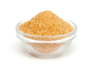 brown sugar in a glass bowl