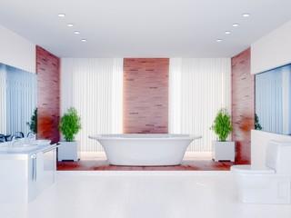 Bathtub as Centerpiece