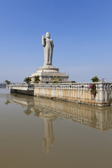 Gautam Buddha in the middle of a lake, Hyderabad