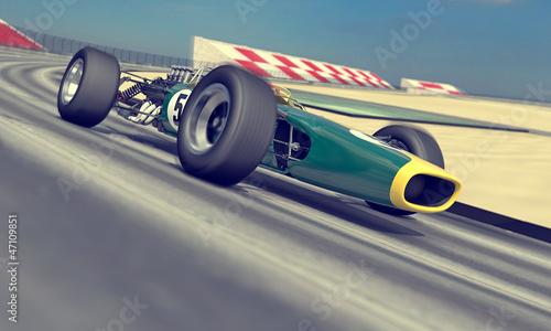 Naklejka vintage racer