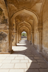 Arches in Qutb Shahi Tombs in Hyderabad