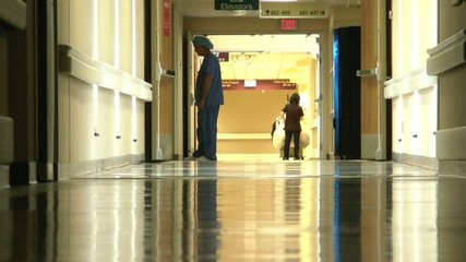 Hospital Workers in Hallway