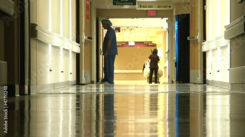 Hospital Workers in Hallway