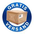 gratis versand blauer button paket