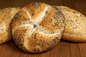 Poppy Seed Vienna or Kaiser Bread Rolls