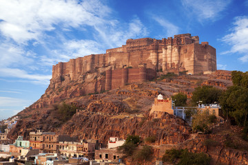 Mehrangarh Fort in Jodhpur, Rajasthan,