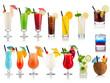 Leinwandbild Motiv cocktail and longdrink set