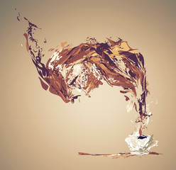 illustration of coffee splash