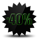 "Icône soldes  "" - 40% """