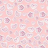 Cute feminine seamless pattern