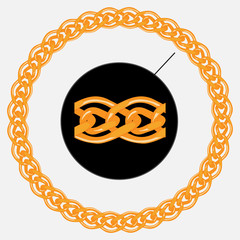 Golden chain pattern and shape of circle