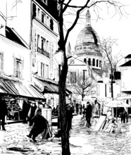 Montmartre in de winter