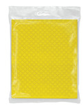 yellow napkins in a transparent pack