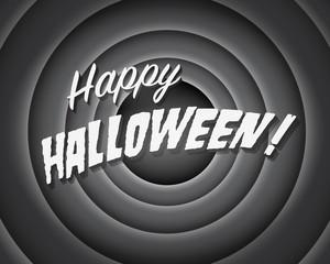 Halloween Movie still - Editable Vector.