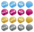 Website Buttons Rabatt und Neu Vektor