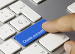 Create account keyboard key. Finger