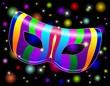 Carnival Mask Rainbow-Maschera Arcobaleno Psichedelico