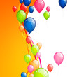 Vector Illustration of an Abstract Background with Balloons