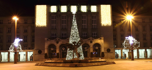 christmas tree in the Ostrava