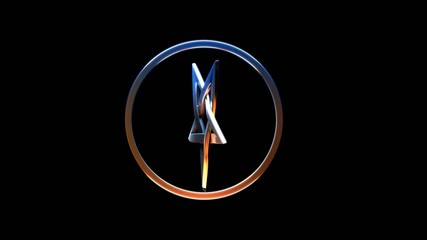 Rotating pentagram
