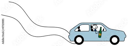 Betrunkener Autofahrer