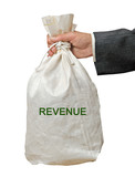 Bag with revenue poster