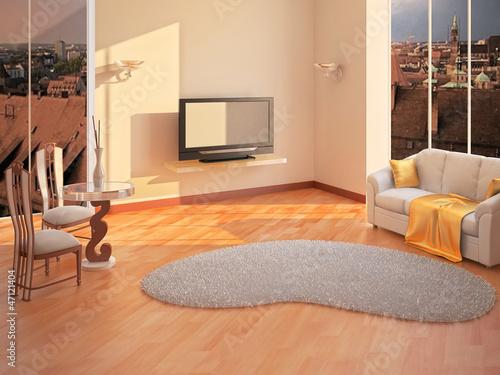 Modern Room Interior in 3D