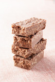 Stack of chocolate nougat