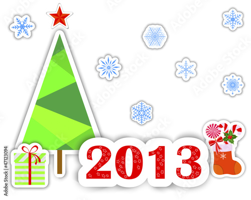 New Year 2013 stickers.