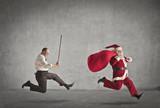Fototapety Escaping Santa Claus