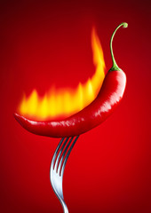 burning red chili pepper