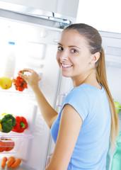 strawberry in the refrigerator