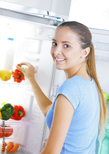 strawberry in the refrigerator