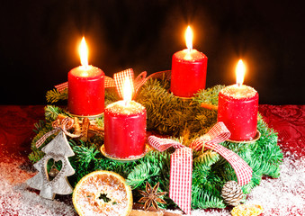 Kerzenlicht zum vierten Advent