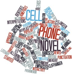 Word cloud for Cell phone novel
