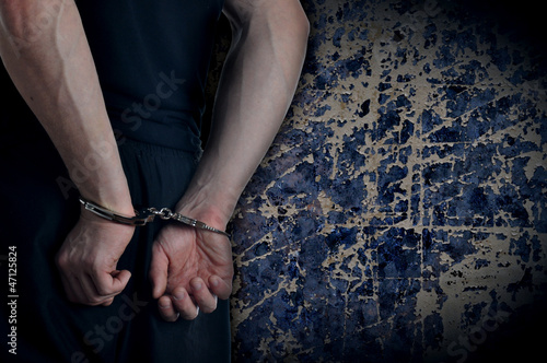 Men with handcuffs