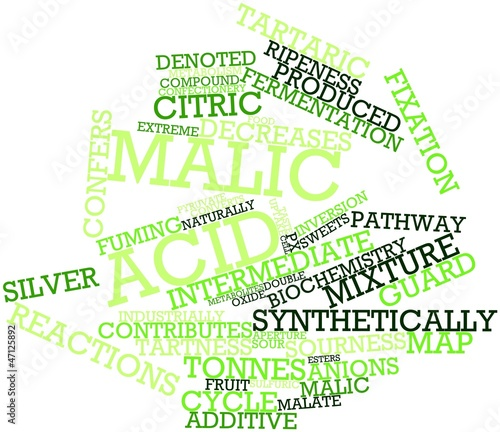 Word cloud for Malic acid