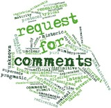 Word cloud for Request for Comments