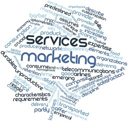 Word cloud for Services marketing