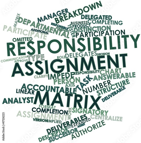 Word cloud for Responsibility assignment matrix