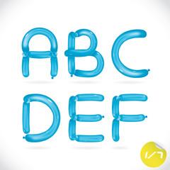 Balloon Alphabet, Letters, Illustration, Sign, Icon, Symbol