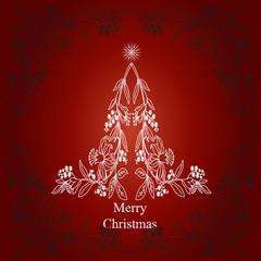 High resolution conceptual abstract Christmas fir tree