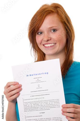 Mein erster Arbeitsvertrag