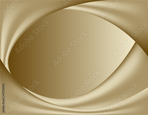 Fotobehang Stof abstract gold background. wavy folds of silk