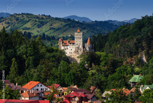 The Bran Castle and Bran city