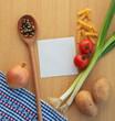 Notizzettel mit Kochzutaten