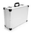 Luxury aluminum suitcase.