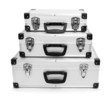 Luxury aluminum suitcase.