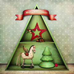 Christmas schelf