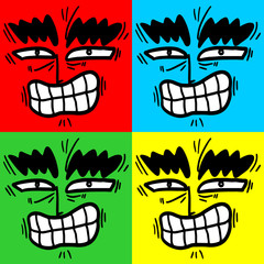 Four color rebel expression